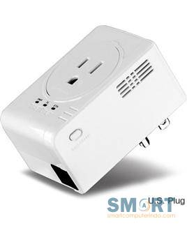 500Mbps Powerline AV Ethernet Adapter with built in Power Outlet