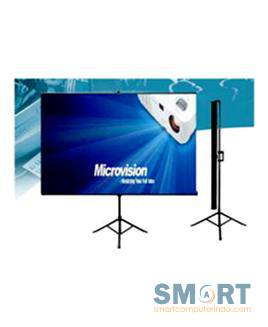 Microvision Tripod Screen 178x178 cm / 70 x70 In